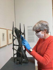 AW tastet Heiliger Modell für ein Denkmal des unbekannten politischen Gefangenen , Bronze1952 2